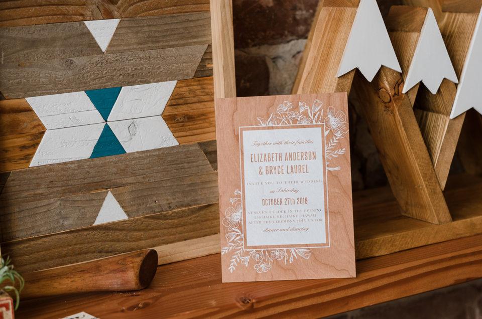 Basic Invite Wood Invitation Suite | Discount Code