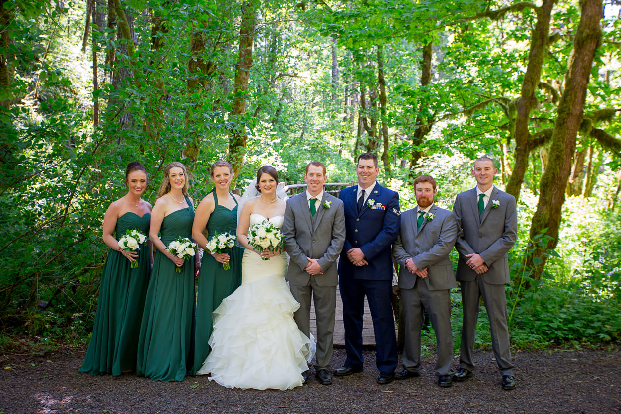 beazell memorial forest wedding in philomath oregon by