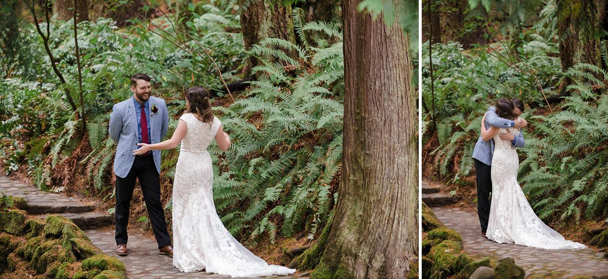 Leach Botanical Garden Wedding Portland 07