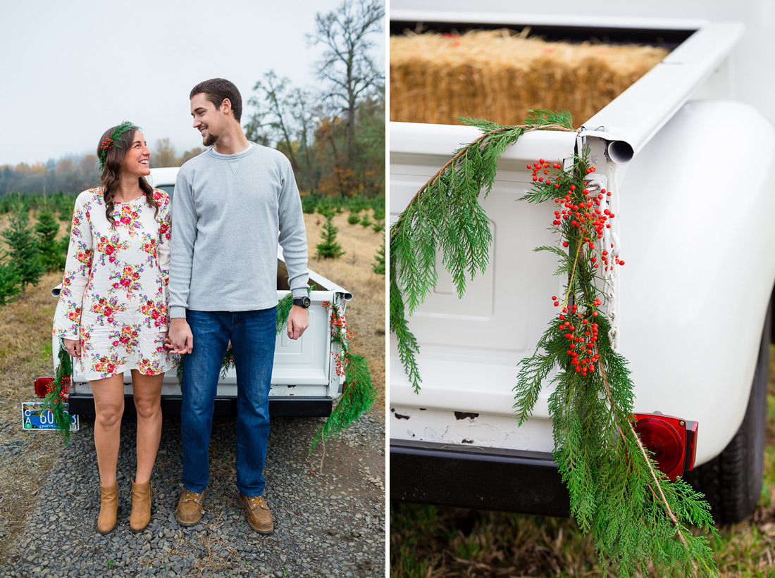 christmas-engagement-003 Oregon Engagement Pictures | Northern Lights Christmas Tree Farm | Jessica & Zach