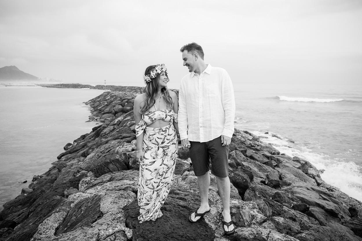 magic-island-engagement-photos-003 Magic Island Engagement Photos   Waikiki Hawaii Wedding   Jennifer & Morgan