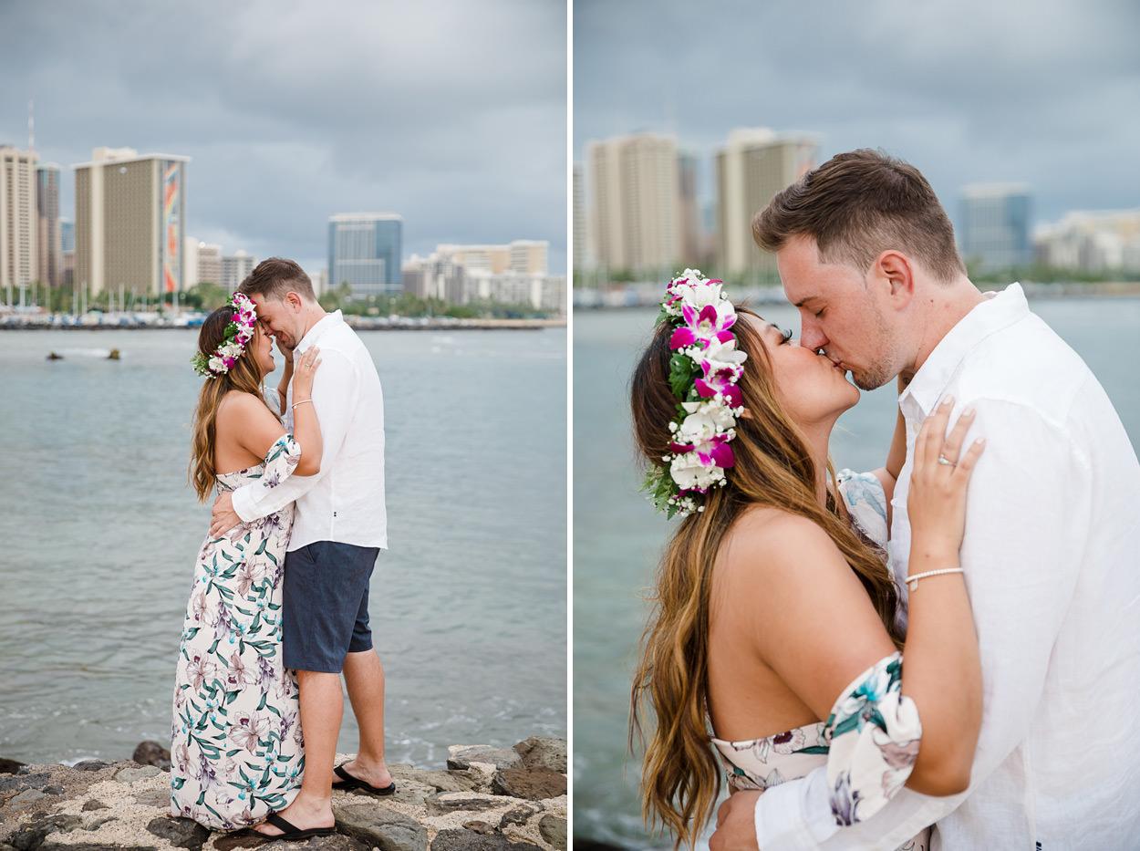 magic-island-engagement-photos-005 Magic Island Engagement Photos   Waikiki Hawaii Wedding   Jennifer & Morgan