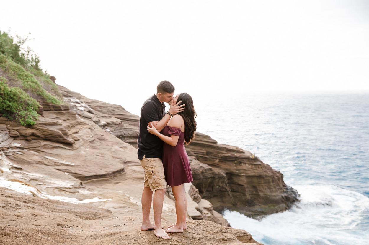 oahu-hawaii-wedding-photographer-001 Spitting Cave & Hanauma Bay Rim Trail Engagement Photos | Stephanie & Michael