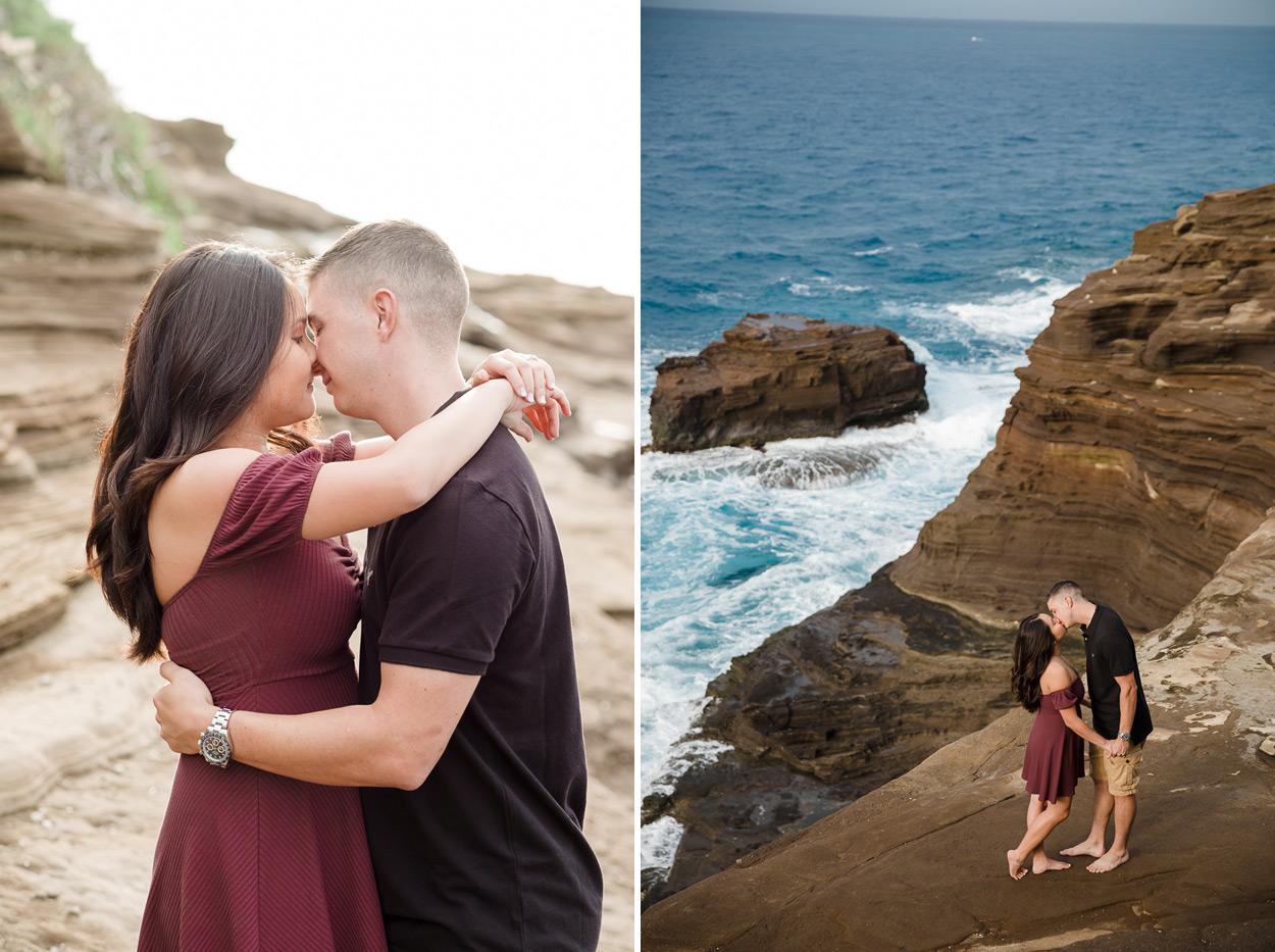 oahu-hawaii-wedding-photographer-002 Spitting Cave & Hanauma Bay Rim Trail Engagement Photos | Stephanie & Michael