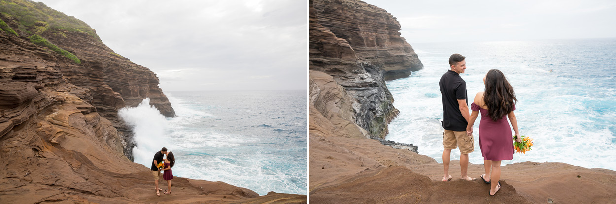 oahu-hawaii-wedding-photographer-005 Spitting Cave & Hanauma Bay Rim Trail Engagement Photos | Stephanie & Michael