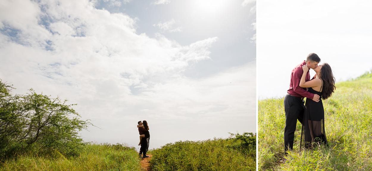 oahu-hawaii-wedding-photographer-011 Spitting Cave & Hanauma Bay Rim Trail Engagement Photos | Stephanie & Michael